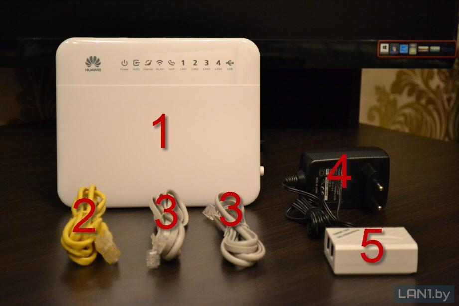 Комплект оборудования (модем c комплектующими)
